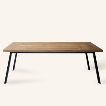Vrolijk/Aleida dining table in old oak wood 220x100cm black